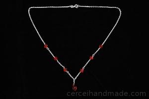 Colier cristale rosii Swarovski